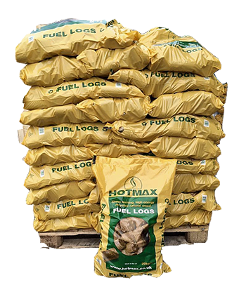 HOTMAX Fuel logs by the pallet
