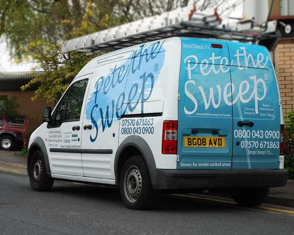 Pete the Sweep van blue